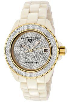 Swiss Legend Women's Karamica White 341 Diamonds (2.98 ctw) Pave Dial Cream High-Tech CeramicSwiss Legend 20052-BGWFG Watch