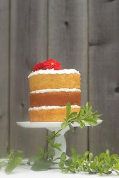 Desserts Recipe: Cornbread Cake with Honey Butter Frosting