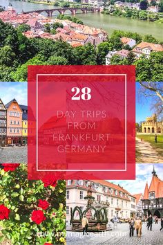 Whether you're longing to explore medieval castles, wine valley, or scenic rivers, some great day trips from Frankfurt are the perfect budget choices. Europe Travel Outfits, Europe Travel Guide, Europe Destinations, Travel Guides, Travelling Europe, Travel Advice, Germany Travel, Visit Germany, European Travel