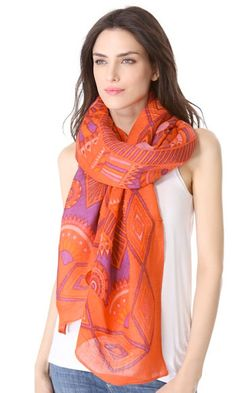 Lightweight and linen, this is the perfect lazy girl's scarf. It instantly takes white tee and jeans (or shorts, if the weather ever warms up), to the next level. Theodora & Callum Phoenix Scarf, $175, shopbop.com - Cosmopolitan.com