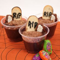 Try this quick and easy Zombie Dirt Dessert recipe by Palmer – a chocolaty, sweet Halloween treat!