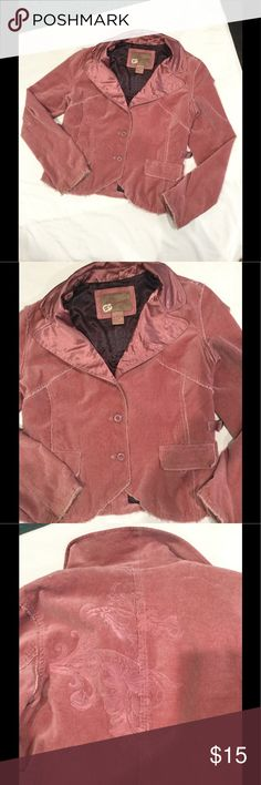 Pink velvet blazer Used BKE pink faux suede blazer jacket with smooth liner and collar. Distressed look. Large but runs small. Seam slightly pulled on inner lining. BKE outerwear Jackets & Coats Blazers
