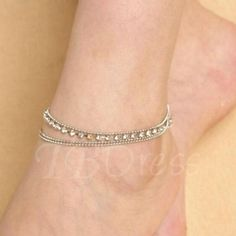 TBDress - TBDress Silver Double-Layer Anklet - AdoreWe.com