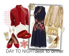 """Desk to Dinner"" by shoppe23 ❤ liked on Polyvore featuring H&M, Little Mistress, Sebastian Milano, Threshold and HolidayParty"