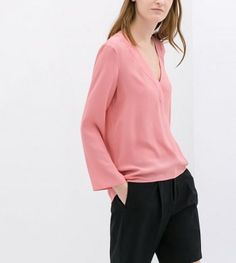 AUTUMN NEW FASHION LADIES' PURE CHIFFON LONG SECTIONS V-NECK LONG-SLEEVED SHIRT ST2621
