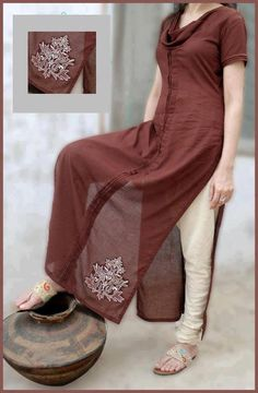 Material used : Malai Lawn/ Maiai Linen ; For prices/order details send us a message or Whatsapp us on the Saris, Indian Attire, Indian Wear, Pakistani Outfits, Indian Outfits, Salwar Kameez, Churidar, Simple Dresses, Casual Dresses