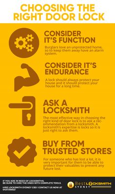 Door locks are the most important item in securing your house that is why choosing the right door lock is very important. Mobile Locksmith, Emergency Locksmith, Locksmith Services, Choose The Right, Alarm System, Door Locks, Organization, House, Getting Organized