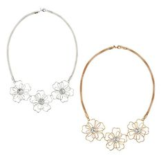 In Bloom Necklace - Representing fresh flowers - this beautiful necklace features three large flowers as if they had just bloomed! This is even prettier in person. Check out Avon Necklaces at http://agafford.avonrepresentative.com #Avon #necklaces #jewelry