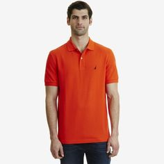 Nautica Mens Solid Pique Deck Polo Shirt Classic Fit - Buy direct from  Nautica! #