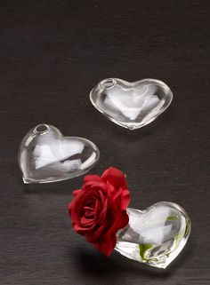 Heart shaped glass flower vase bridal shower romantic classic wedding reception decoration DIY bride groom NYC flower market Valentine's Day displays