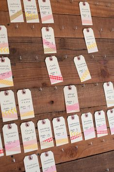 washi tape seating chart // photo by Rahel Menig // view more: http://ruffledblog.com/sweet-los-gatos-wedding