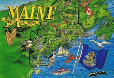 Just two major commercial casinos operate in the state of Maine right now, neither of which are linked to any of Maine's Native American tribes. Maine New England, Native American Tribes, Beautiful Places To Visit, View Image, Vintage Postcards, Travel Usa, Sketches, History, Maps