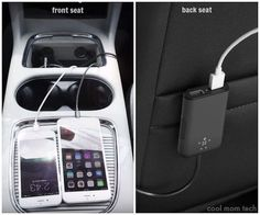 Road trip must-have: Belkin Road Rockstar charges two devices in the front, with a 6' wire for charging in the back, too.