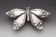 Silver Spoon Brooches - Butterfly #Spoons