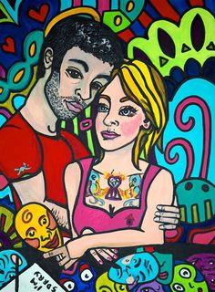 "Borderline 30""x40"" Acrylic 2010"