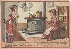 https://flic.kr/p/5HiLyT | Diamond Package Dyes | Persistent URL: digital.lib.muohio.edu/u?/tradecards,2501         Subject (TGM): Women; Housewives; Kitchens; Dyeing; Textiles; Chemical industry; Cartoons (Commentary);