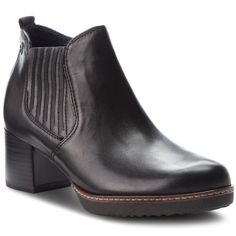 Botine TAMARIS - 1-25336-21 Black Leather 003
