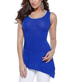 Loving this Cobalt Abstract Embellished Tunic on #zulily! #zulilyfinds