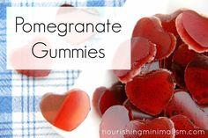 Pomegranate Gummies, a Simple Valentine Treat | Nourishing Minimalism