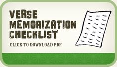 Our free downloadable verse memory checklist that accompanies our songs!
