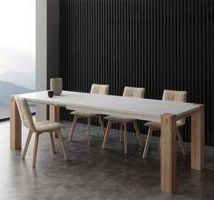 Tavolo rettangolare Bontempi Casa Cruz 120 con struttura in ...