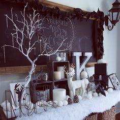 callacafeさんの、Lounge,DIY,ディスプレイ,クリスマス,インダストリアル,海外インテリア,クリスマスディスプレイ,チョークボード,アメリカンスタイル,コンテスト参加♡,ラスティックについての部屋写真