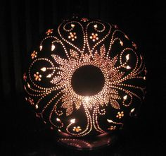 Handcrafted  decorative flower pattern table lamp by tamiredding, $100.00