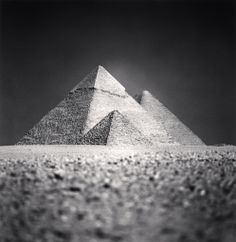 Michael Kenna - GIZA PYRAMIDS, STUDY 5, CAIRO, EGYPT, 2009 | From a unique collection of black and white photography at http://www.1stdibs.com/art/photography/black-white-photography/