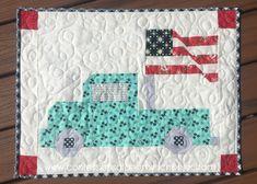 Vintage Glory Mini-Quilt Pattern - Confessions of a Homeschooler Mini Quilt Patterns, Applique Patterns, Sewing Patterns, Crazy Quilt Blocks, Patch Quilt, Small Quilts, Mini Quilts, Blue Quilts, Patriotic Quilts