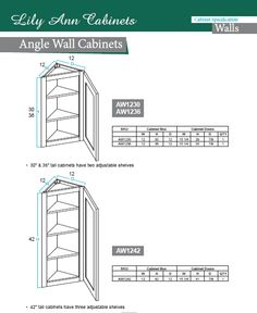 #Angle #Wall #Cabinets #specification product ready to assemble with full easy  sc 1 st  Pinterest & Bridge #Wall #Cabinets #specification by Lily Ann Cabinets. Buy ...