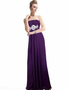 Amazon.com: Ever Pretty Padded Empire Chiffon Ruching Gorgeous Bridesmaid Dress 09652: Clothing