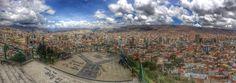 Paisaje de la ciudad de #LaPaz en #Bolivia