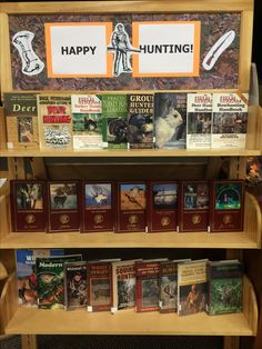 Library book display for hunting season