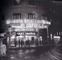 "1961 ~ Cine ""Rivoli"" (Sofokleous str, Athens) Greece Pictures, Old Pictures, Old Photos, Vintage Photos, Greece Photography, History Of Photography, Ancient Myths, Ancient Greek, Athens History"
