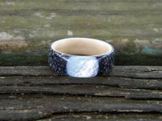 White Birch Lined Bentwood ring with Rayskin by williamhampton, $75.00