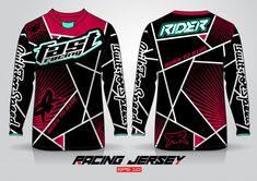 Long Sleeve T-shirt Design Template, Uniform Front And Back View Sports Jersey Design, Sport T Shirt, Workout Wear, Tees, Shirts, Shirt Designs, Soccer, Vector Freepik, Motocross