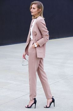 pale pink power suit? don't mind if I do..