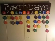 m&m; birthdays.....I SO WANNA DO THIS!!!!!!! But don't just LOVE the BROWN???