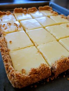 Old Fashioned Southern Creamy Lime Squares ~ The squares are creamy and sweet but also tart at the same time – and the serving size just right!