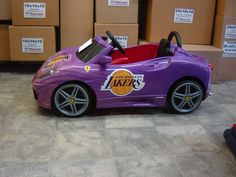 Mini Lakers car.
