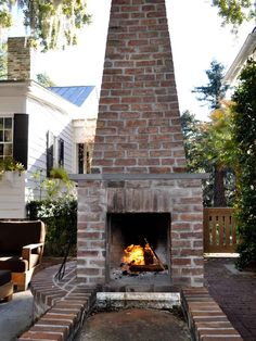 Home Design and Interior Design Gallery of Rustic Brick Fireplace Design Robbins Garden House Patio Outdoor Rooms, Outdoor Gardens, Outdoor Living, Outdoor Fireplace Designs, Interior Design Gallery, Patio Kitchen, Farmhouse Fireplace, Barbie Dream House, Outside Living