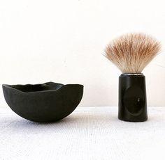 shaving utensils handmade bowl of porcelain Utensils, Shaving, Porcelain, Black And White, Handmade, Gifts, Beauty, Porcelain Ceramics, Hand Made