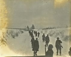 17th Airborne Division (the exact unit is not know but may be 513th PIR). Bastogne is located on the left side of the horizon line and the village of Mande-Saint-Etienne on the left side of the fir trees.