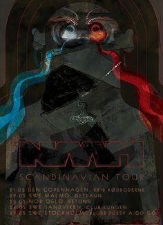 NAAM. Scandinavian tour, 2013.