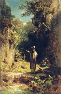 The Athenaeum - The Angler (Carl Spitzweg - )