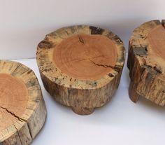 Coffee Table Stump Set Trio Modular Modern von realwoodworks1