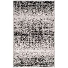 Adirondack Silver/Black 3 ft. x 5 ft. Area Rug