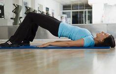 Po-Heber - Beckenbodentraining: Übungen für Schwangere & frischgebackene Mamis - Legt euch auf den Rücken. Die Arme liegen entspannt neben dem Körper. Stellt die Füße auf, spannt den Bauch fest an und schiebt Po und Oberkörper nach oben...