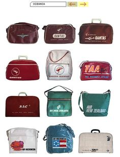 Vintage airline travel bags