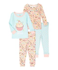Take a look at this Candlesticks Blue & Pink Cupcake Pajama Set - Infant today!